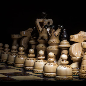 Chess by Aleksander Cierpisz - Artistic Objects Other Objects ( wood, white, dark, chess, startup )