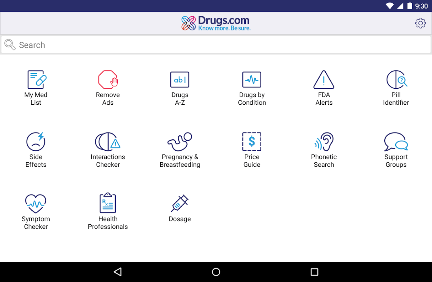 Drugs.com Medication Guide- screenshot