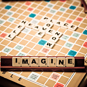 imagine by Ben Brian Banao - Artistic Objects Other Objects ( word game, icewater, imagine, scrabble, philippines )