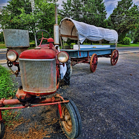 Tractor and wagon by Andrea Everhard - Transportation Other