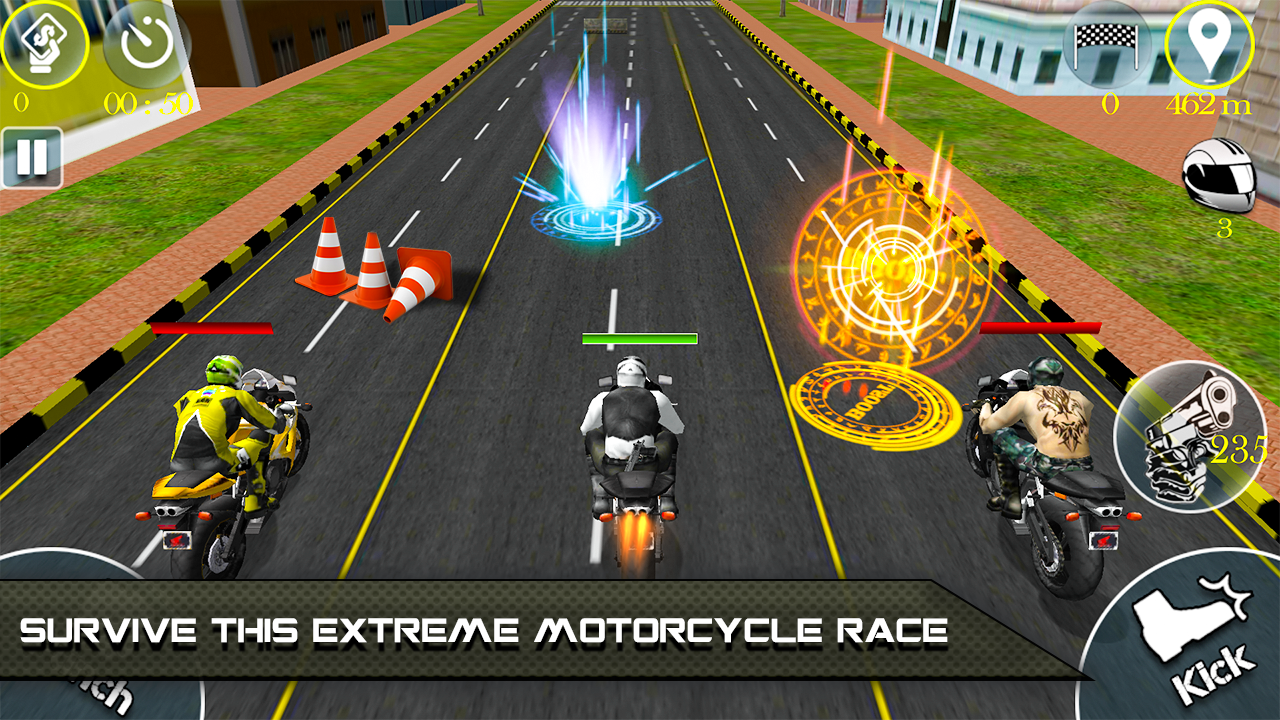 Bike Attack Race 2 - Shooting- screenshot