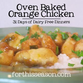 Oven Baked Orange Chicken (Dairy Free Recipe)