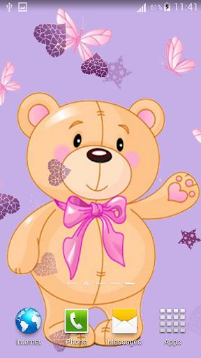 可愛的泰迪熊動態壁紙