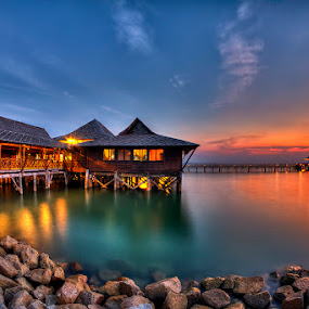 Sunset @ Bintan by Partha Roy - Landscapes Waterscapes ( sunset color, bintan, waterscape, sunset, seascape )