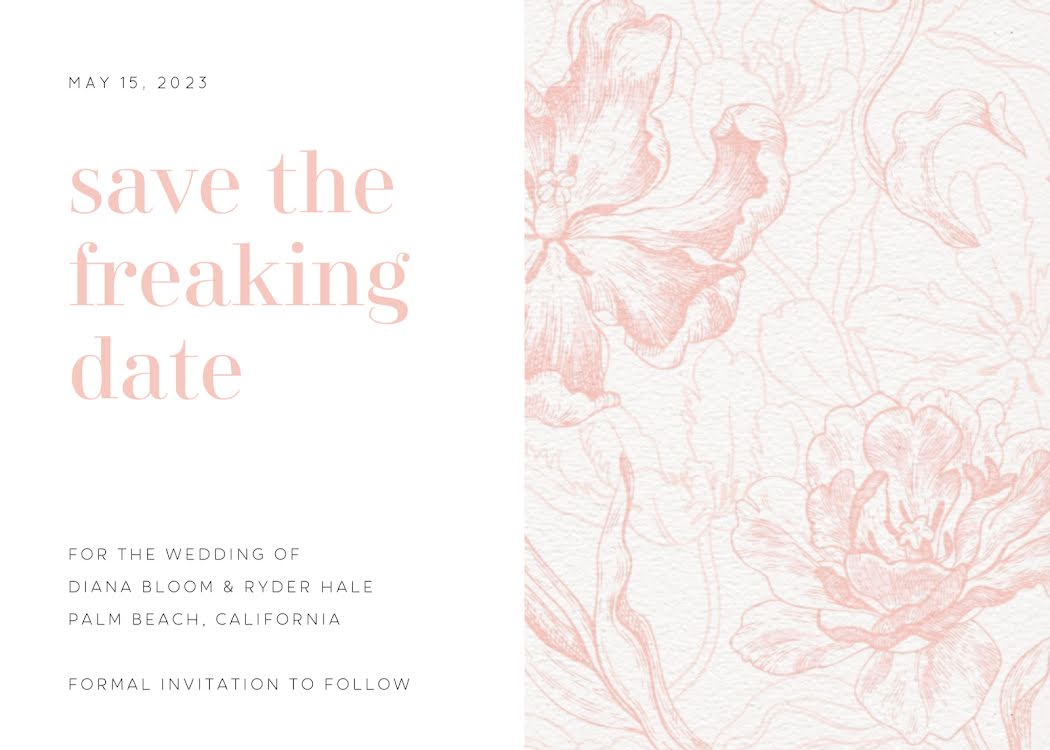 Diana & Ryder's Wedding - Wedding Invitation Template