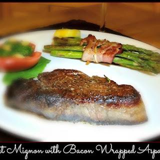 Filet Mignon and Bacon Wrapped Asparagus