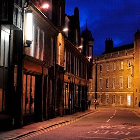 Cambride night... by Zvonimir Cuvalo - City,  Street & Park  Street Scenes ( uk, england, life, street, night, cambridge )