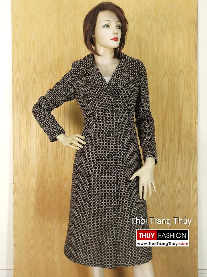 Áo khoác dạ nữ dáng dài qua gối V643 hải phòng