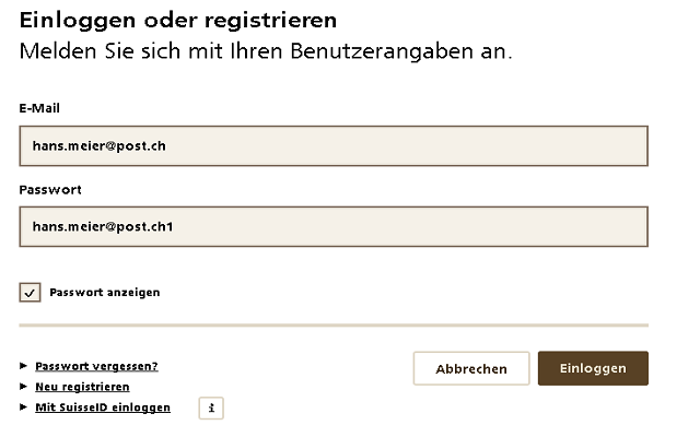 AutoLogin SwissPost /w SwissId for TEST env