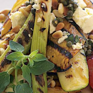 Grilled Vegetable Salad with Oregano Vinaigrette.