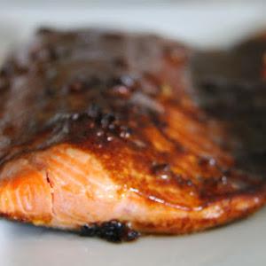 Salmon with Teriyaki BBQ Glaze