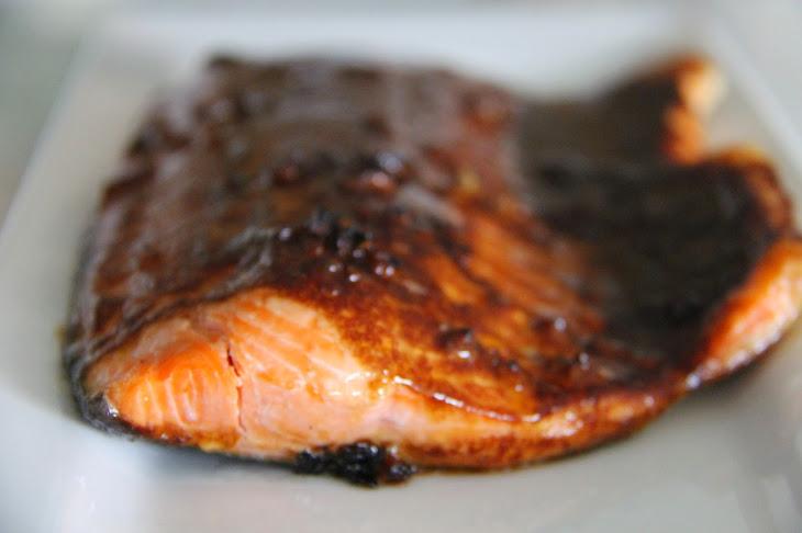 Salmon with Teriyaki BBQ Glaze Recipe