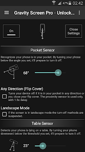 Gravity Screen - On/Off: miniatura de captura de pantalla