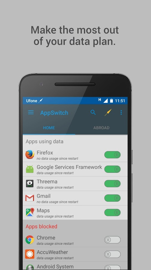AppSwitch- A real data manager- screenshot