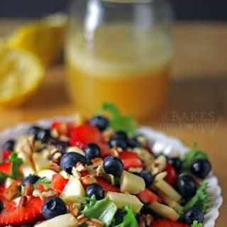 Honey Lime Vinaigrette + Apple Berry Pecan Salad Recipe