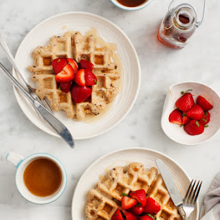 Cacao Nib & Strawberry Vegan Waffles