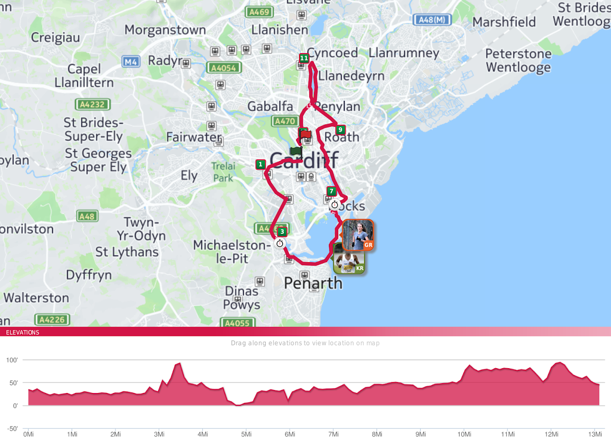 Cardiff Half- screenshot