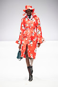 This gorgeous floral coat is one of the Thebe Magugu pieces available on the 24 Sèvres website.