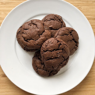 Soft & Chewy Double Chocolate Chunk Cookies.