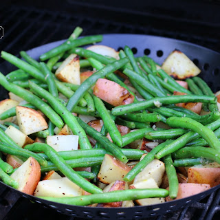 Grilled Red Potatoes and Green Beans.