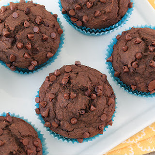 Healthy Low-Calorie Chocolate Muffin.