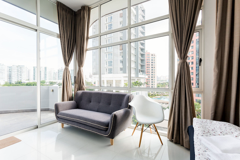 Simplistic living space in Duplex Penthouse near Dakota MRT Station