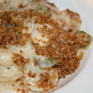 Mac and Cheese with Okra and Grits.