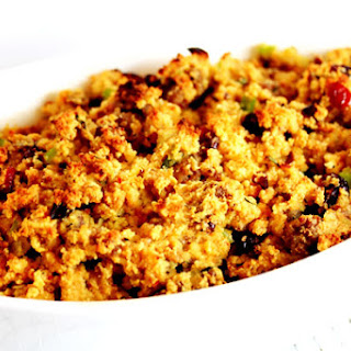 Cranberry-Orange Cornbread Stuffing with Sausage.