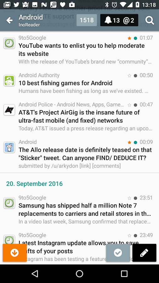 Gravity For Twitter & RSS- screenshot