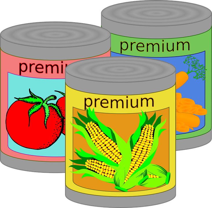 Free vector graphic: Canned Food, Tin, Can, Vegetables - Free ...