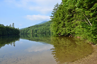 Photo: Tree lined shore at Emerald Lake State Park by Linda Carlsen-Sperry