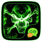 (FREE) GO SMS FIRE SKULL THEME