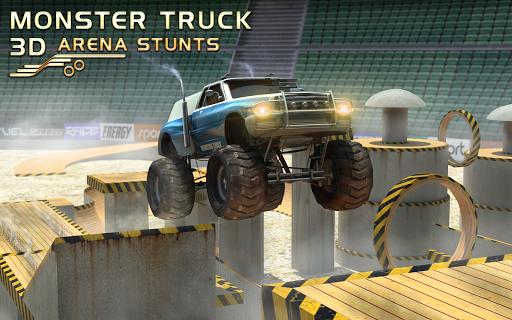 モンスター トラックの 3 D 競技場をスタントします。