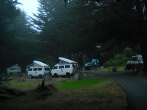 Photo: Plaskett Creek campground--we got in trouble because we didn't back in--in case of an evacuation!