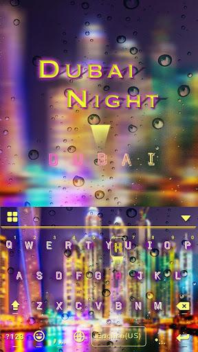 Dubai Night Keyboard Theme