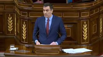 Intervención de Pedro Sánchez para prorrogar el estado de arlarma.