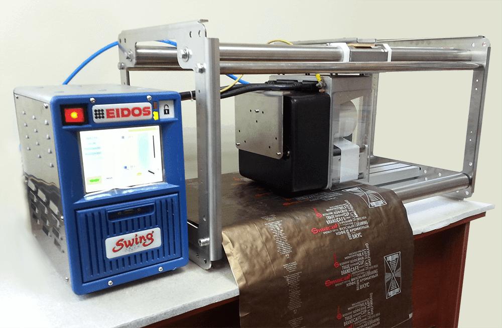 Тестовый запуск принтера EIDOS SWING 2.ie