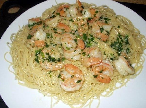 Shrimp Scampi And Cilantro Pasta Recipe