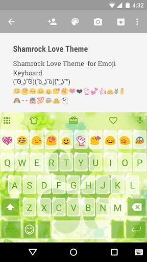 Shamrock Love Emoji Keyboard