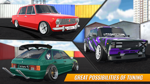 Russian Car Drift APK MOD screenshots 2