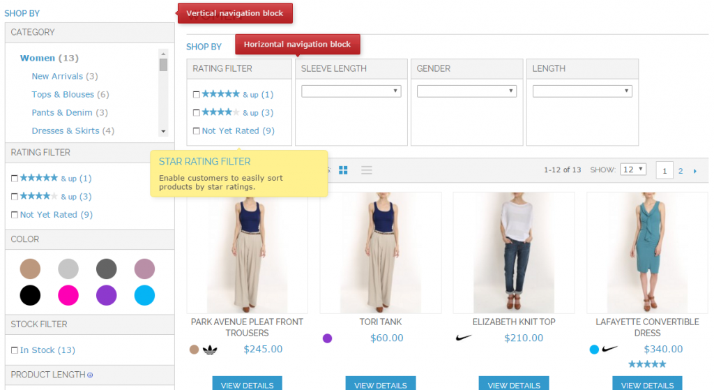 Improved Layered Navigation for Magento 1