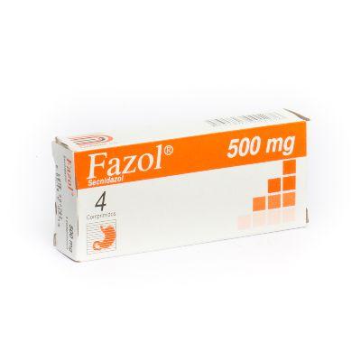 Secnidazol Fazol 500 mg x 4 Comprimidos