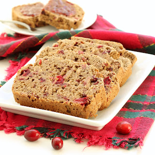 Gluten Free Cranberry Banana Bread (Plant-based, Refined Sugar-free, Oil-free, Nut-free)