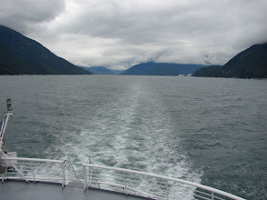 Photo: Looking northward up Taiya Inlet from the ferry.