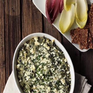 Spinach Artichoke White Bean Dip with Feta {Gluten-free}.