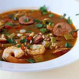 Shrimp and Sausage Jambalaya.
