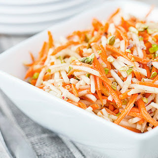 Apple and Carrot Salad with Pistachios.