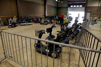 Photo: Power scooters are somewhat popular at the Dayton Hamvention.