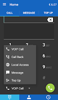 Screenshot of SmartVoip Call abroad