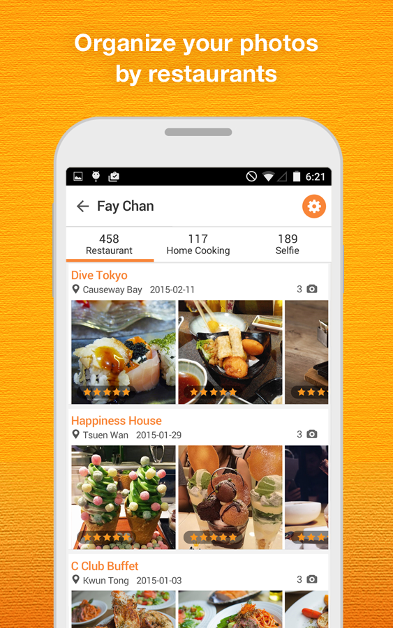 OpenSnap: Photo Dining Guide- screenshot